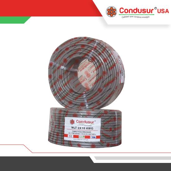 cable vulcanizado nlt 2x16awg