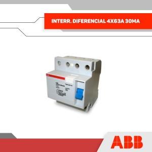 INTERR. DIFERENCIAL 4X63A 30MA 400V 4MOD RIEL DIN - GRUPO YLLACONZA
