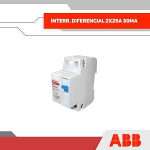INTERR. DIFERENCIAL 2X25A 30MA 230V 2MOD RIEL DIN - GRUPO YLLACONZA