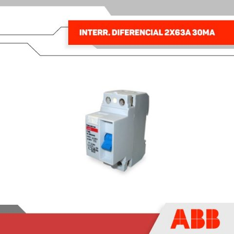 INTERR. DIFERENCIAL 2X63A 30MA 230V 2MOD RIEL DIN - GRUPO YLLACONZA