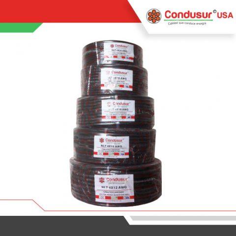 cable vulcanizado nlt 4x12 14 16 18 20 awg