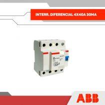 INTERR. DIFERENCIAL 4X40A 30MA 400V 4MOD RIEL DIN - GRUPO YLLACONZA